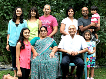 Yogi Shanti Desai with his family